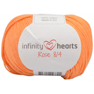 Infinity Hearts Rose 8/4 Garn Unicolor 192 Lys Orange