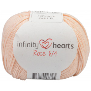 Infinity Hearts Rose 8/4 Garn Unicolor 205 Lys Fersken