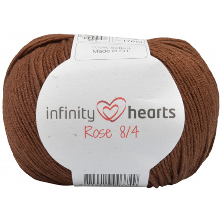 Image of   Infinity Hearts Rose 8/4 Garn Unicolor 228 Mørkebrun