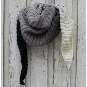 Tørklæde af Louise Grarup - Sjal Hækleopskrift 165cm