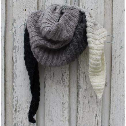 Image of   Tørklæde af Louise Grarup - Sjal Hækleopskrift 165cm