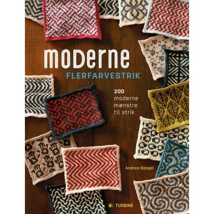 Image of   Moderne flerfarvestrik - Bog af Andrea Rangel