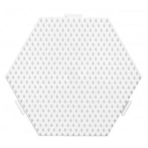 Hama Midi Perleplade Samleplade Sekskant Mellem Hvid 12,5x11,5cm - 1 s