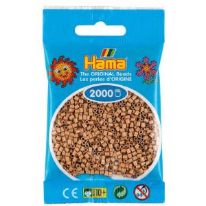Image of   Hama Mini Perler 501-75 Tan - 2000 stk
