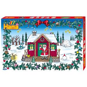 Hama Midi Gigant Gaveæske 3040 Julekalender/Pakkekalender med 24 låger