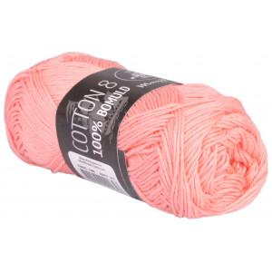 Mayflower Cotton 8/4 Garn Unicolor 1448 Lys Fersken