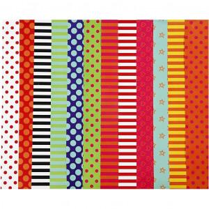 Glanspapir med Print Ass. farver 32x48cm 80g - 100 ark