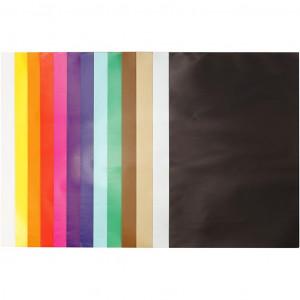 Glanspapir Ass. farver 24x32cm 80g - 50 ark