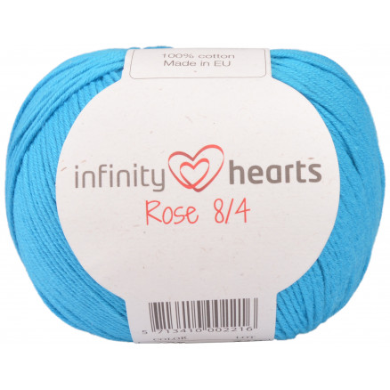 Image of   Infinity Hearts Rose 8/4 Garn Unicolor 125 Turkis