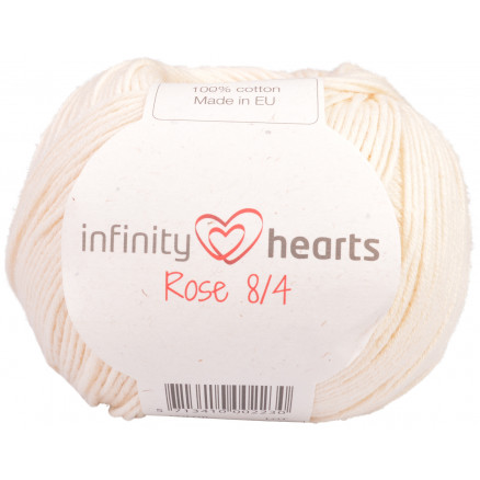 Image of   Infinity Hearts Rose 8/4 Garn Unicolor 172 Natur