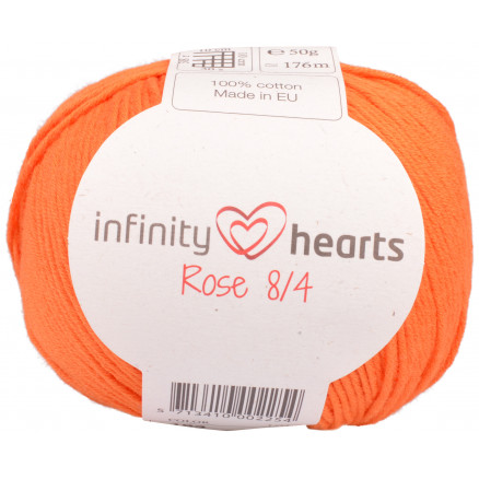 Image of   Infinity Hearts Rose 8/4 Garn Unicolor 193 Orange