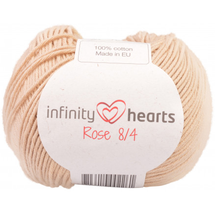 Image of   Infinity Hearts Rose 8/4 Garn Unicolor 213 Beige