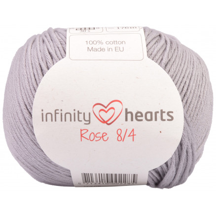 Image of   Infinity Hearts Rose 8/4 Garn Unicolor 232 Lysegrå