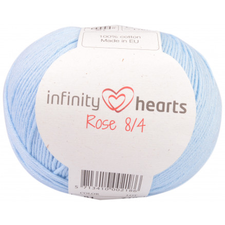 Image of   Infinity Hearts Rose 8/4 Garn Unicolor 81 Lyseblå