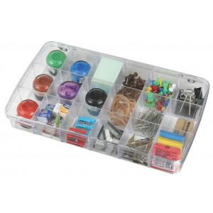 ArtBin Plastboks til knapper og tilbehør Transparent 18x10x4cm