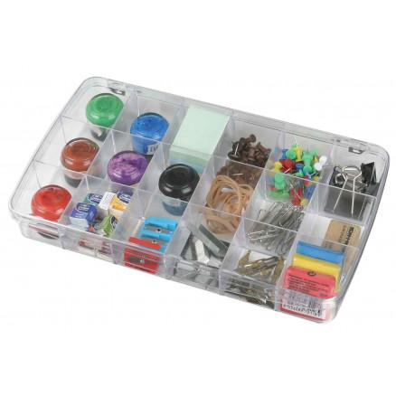 Image of ArtBin Plastboks til knapper og tilbehør Transparent 18x10x4cm