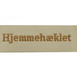 Image of   Label Hjemmehæklet Sandfarve