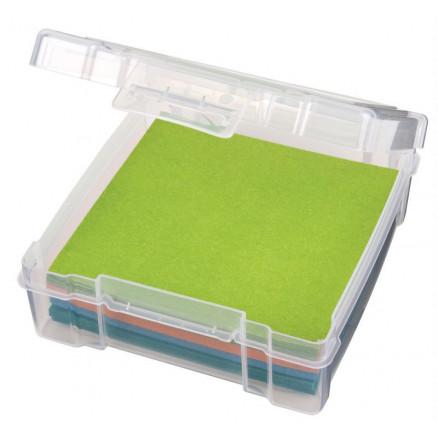 Image of ArtBin Plastboks til Stof/Filt og tilbehør Transparent 16x17x5,5cm