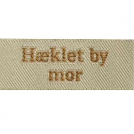 Image of   Label Hæklet by Mor Sandfarve