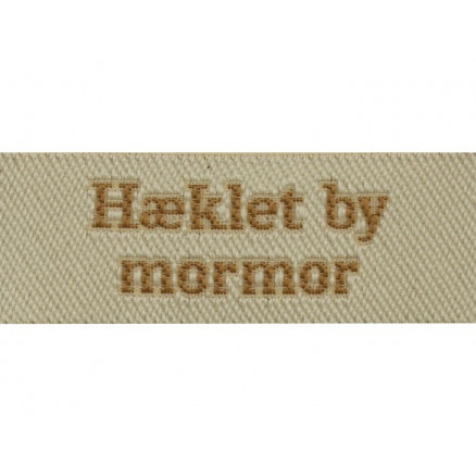 Image of   Label Hæklet by Mormor Sandfarve