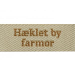 Label Hæklet by Farmor Sandfarve