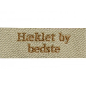 Image of   Label Hæklet by Bedste Sandfarve
