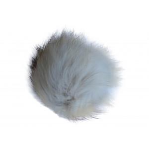 Pompon Kvast Ræv Natur 9-11 cm