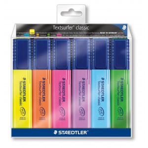 Image of   Staedtler Textsurfer Classic Overstregningstuscher Ass. farver - 6 stk