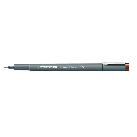 Image of   Staedtler Pigment Liner Tusch/Tus Brun 0,5mm - 1 stk