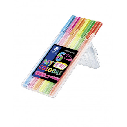 Image of   Staedtler Triplus Color Tuscher/Tusser Ass. Neon farver - 6 stk