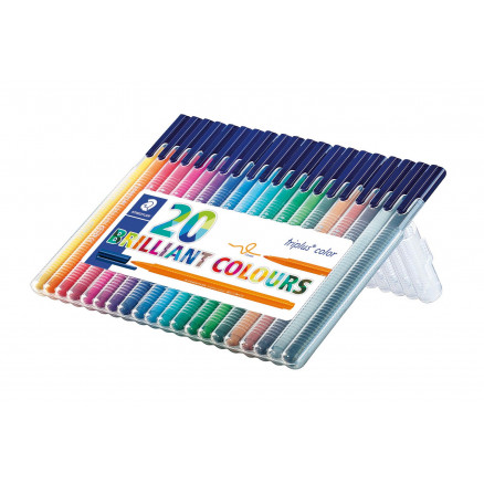 Image of   Staedtler Triplus Color Tuscher/Tusser Ass. farver 1mm - 20 stk