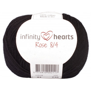 Infinity Hearts Rose 8/4 Garn Unicolor 01 Sort