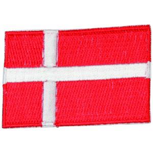 Strygemærke Flag Danmark 4x6cm - 1 stk