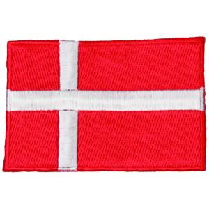 Strygemærke Flag Danmark 9x6cm - 1 stk