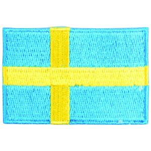 Strygemærke Flag Sverige 4x6cm - 1 stk