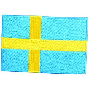 Strygemærke Flag Sverige 9x6cm - 1 stk