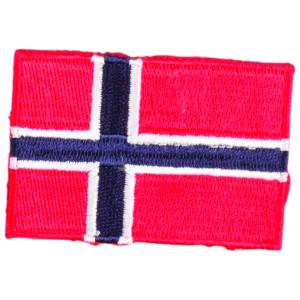 Strygemærke Flag Norge 4x6cm - 1 stk