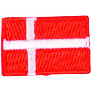 Strygemærke Flag Danmark 3x2cm - 1 stk