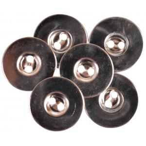 Magnet Knapper til påsyning Sølv 18mm - 3 stk