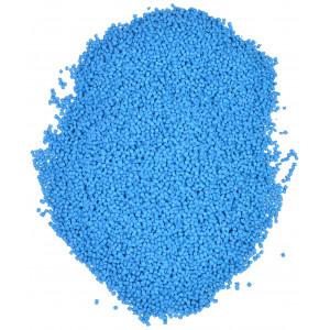 Plasthagl / Plastgranulat / Dukkefyld Blå 500g