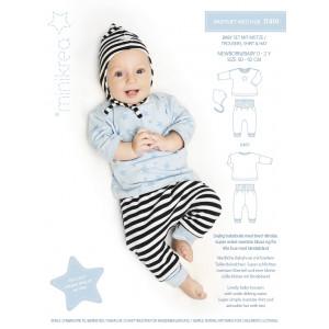 Image of   MiniKrea Snitmønster 11410 Babysæt med Hue str. 0-2 år