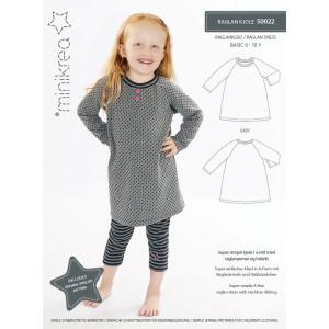 Image of   MiniKrea Snitmønster 50022 Raglan kjole str. 0-10 år