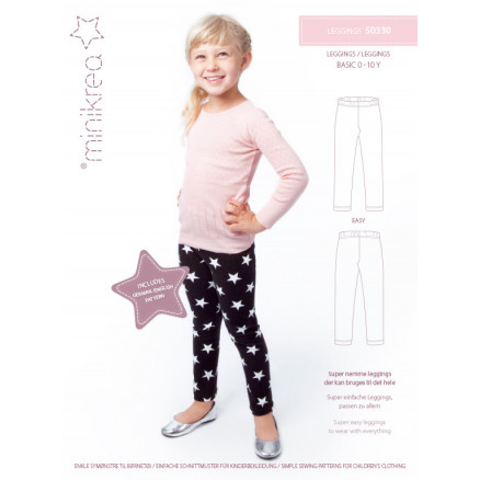 Image of   MiniKrea Snitmønster 50330 Leggings str. 0-10 år