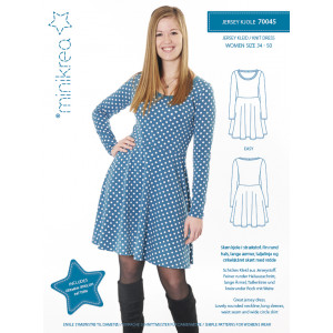 Image of   MiniKrea Snitmønster 70045 Jersey Kjole str. 34-50