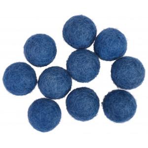 Filtkugler 20mm Mørkeblå BL3 - 10 stk
