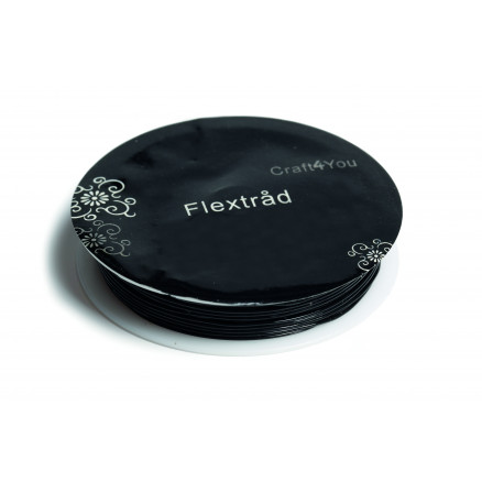Image of   Elastik/Flextråd Sort 0,5mm 8m