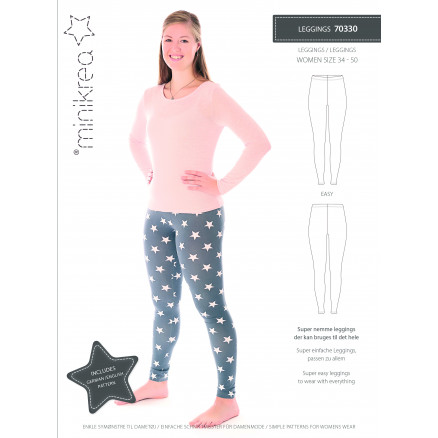 Image of   MiniKrea Snitmønster 70330 Leggings str. 34-50