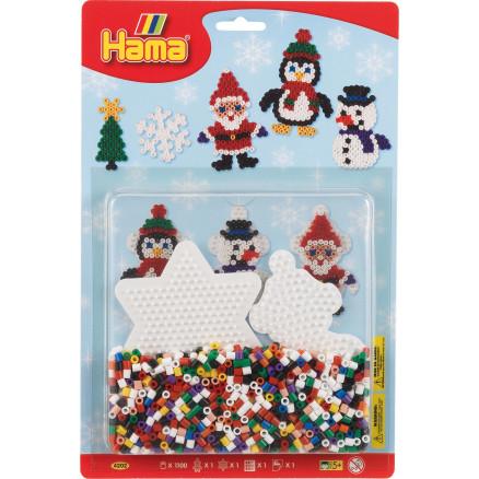Hama Midi Blisterpak 4202 Jul med 1.100 perler & Perleplader thumbnail