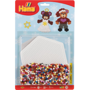 Hama Midi Blisterpak 4204 med 1.100 perler & Sekskantet perleplade