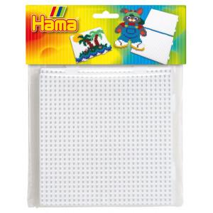 Hama Midi Perleplade 4458 Samleplade Firkant Hvid - 2 stk